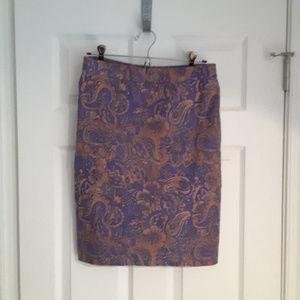 Ann Taylor Loft purple/bronze pencil skirt (4)